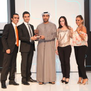 Emirates NBD client and SMG team receiving the award