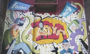 conspiracy puppets egypt graffiti