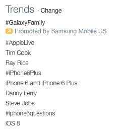 SAMSUNG us trends