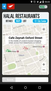 Map-Halal Restaurant