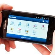 Alamy Facebook smartphone communicate