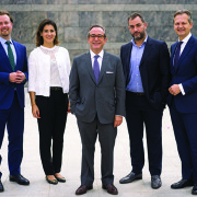 L to R: Steffen Thiel, associate director; Joumana Salem, partner; Dani Richa – CEO and Chairman MEAP; Oussama Gholmieh, director and Udo Klein-Bölting, CEO and managing partner