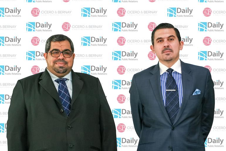L: Mahmoud Al Nasheet -CEO of Daily PR (Bahrain) R: Ahmad Itani, COO, C&B PR