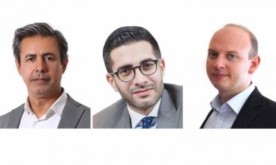 Arab News: L-R Baker Atyani, Faisal J. Abbas and Ben Flanagan