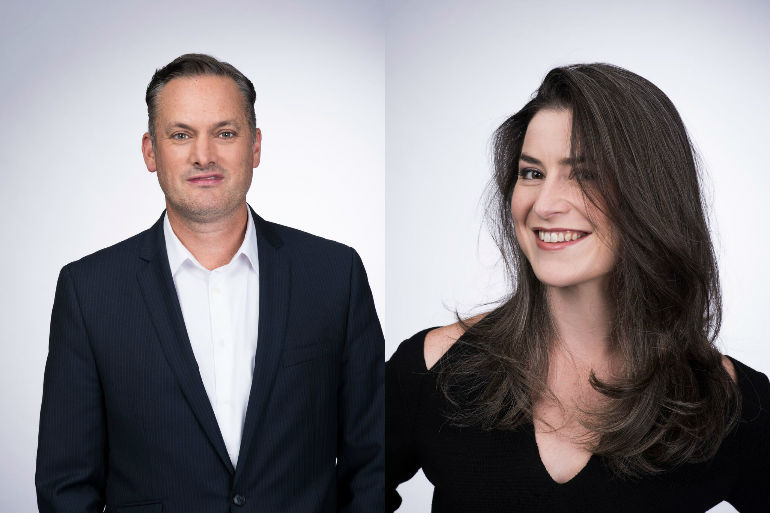 CNNIC appointment (L to R) Brandon Keenen, Pippa Scaife