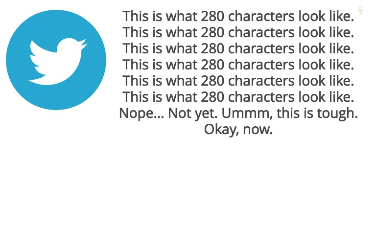 Twitter 280 characters